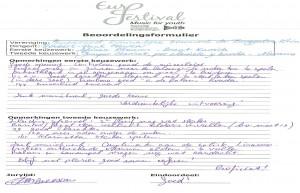 Beoordelingsrapport jurylid Claessens